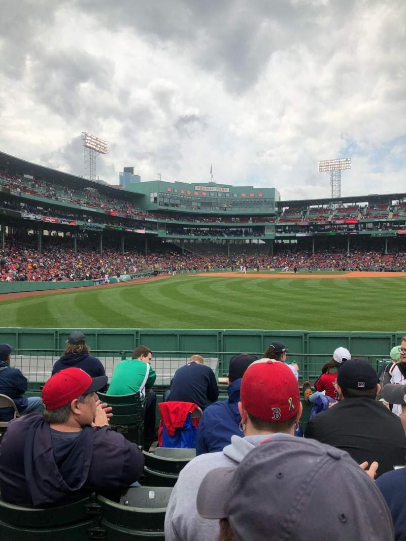 Seating view for Fenway Park Section Bleacher 42 Row 7 Seat 16
