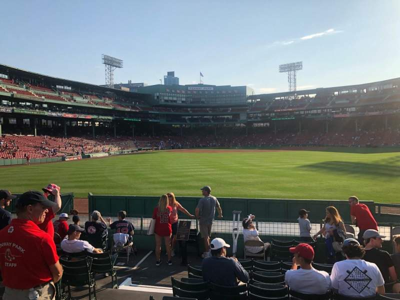 Seating view for Fenway Park Section Bleacher 40 Row 11 Seat 8
