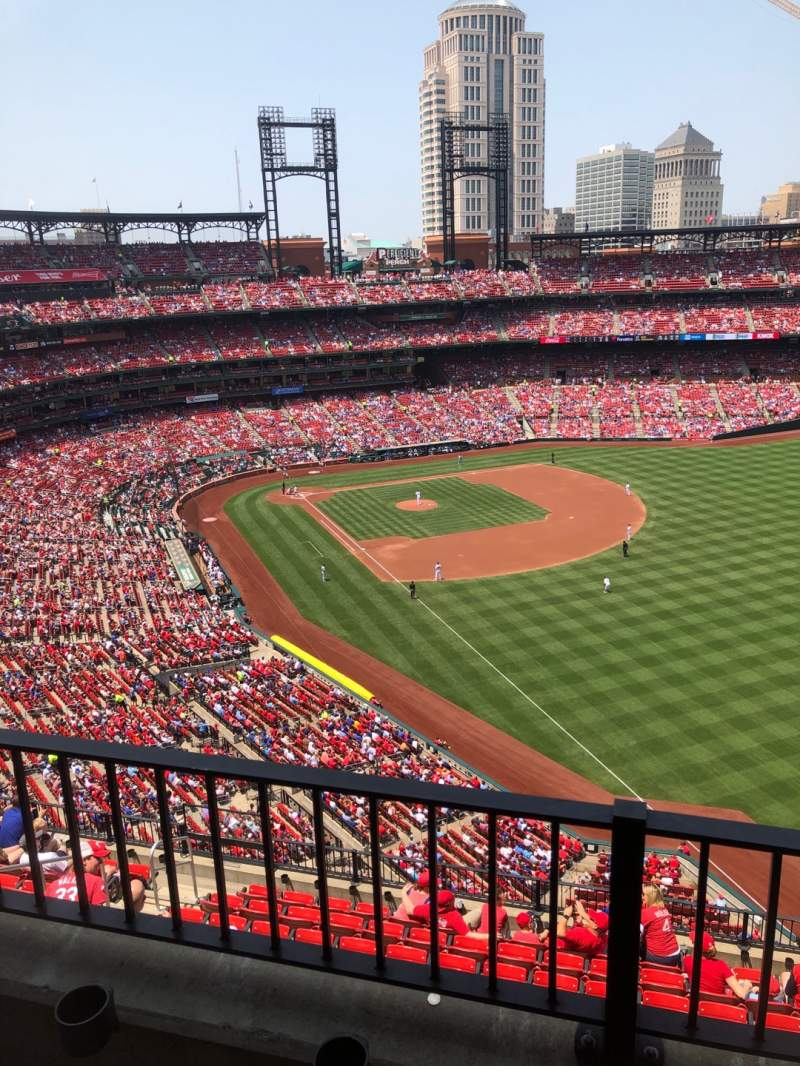 Seating view for Busch Stadium Section 432 Row 2 Seat 13