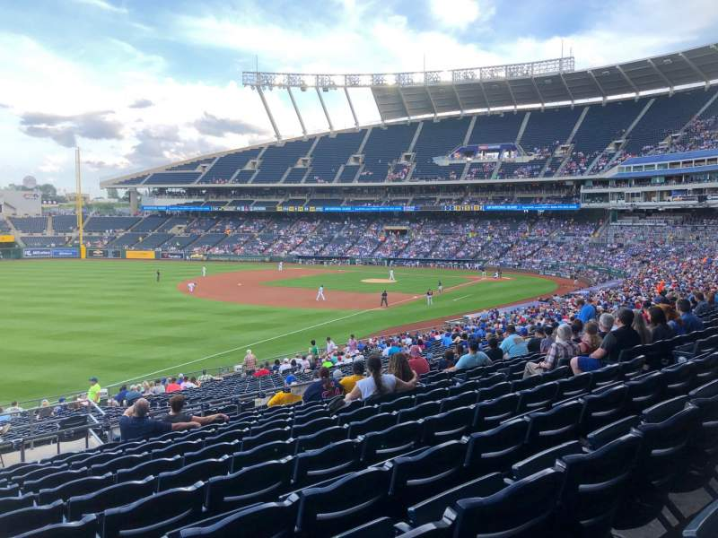 Seating view for Kauffman Stadium Section 211 Row LL Seat 1