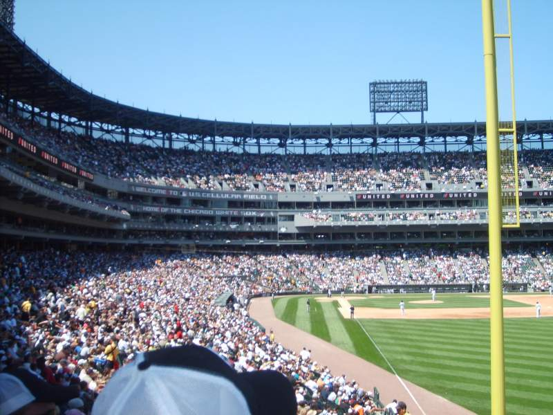 Seating view for Guaranteed Rate Field Section 108 Row 25 Seat 8