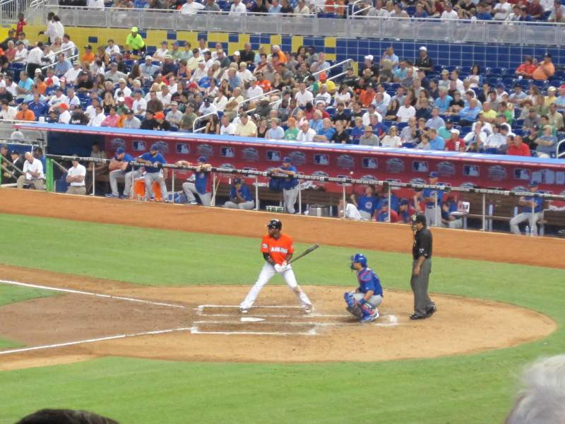 Seating view for Marlins Park Section 21 Row 12 Seat 15