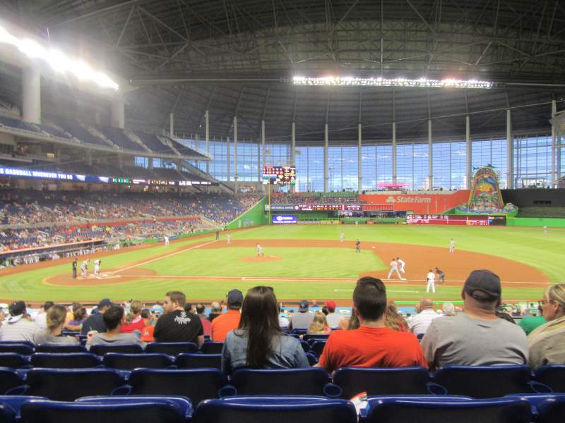 Seating view for Marlins Park Section 9 Row 11 Seat 9