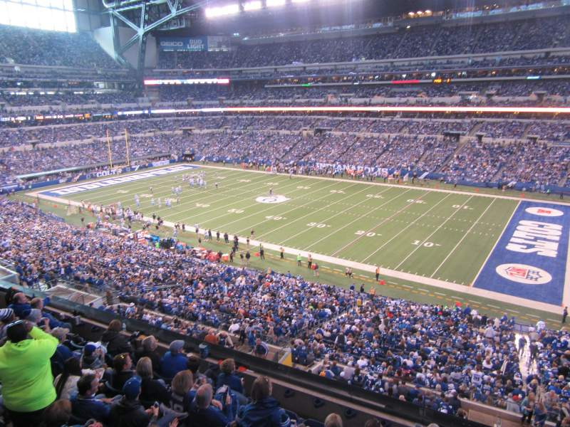 Seating view for Lucas Oil Stadium Section 408 Row 8 Seat 13