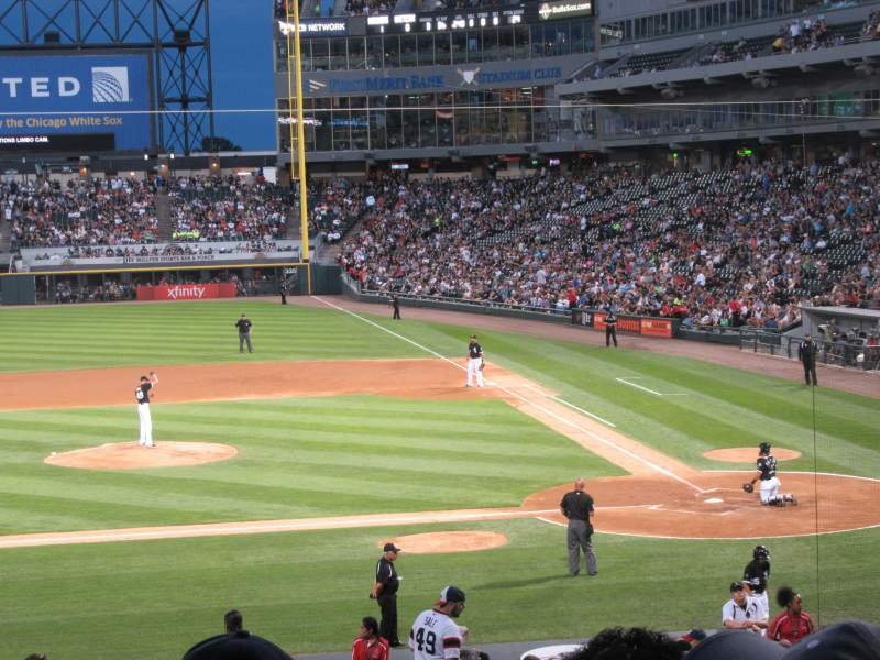 Seating view for Guaranteed Rate Field Section 138 Row 30 Seat 2