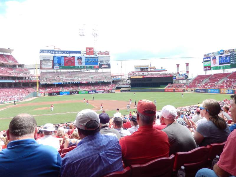 Seating view for Great American Ball Park Section 129 Row FF Seat 9
