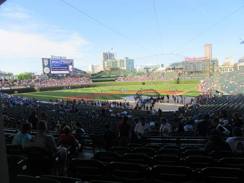 Seating view for Wrigley Field Section 219 Row 7 Seat 3