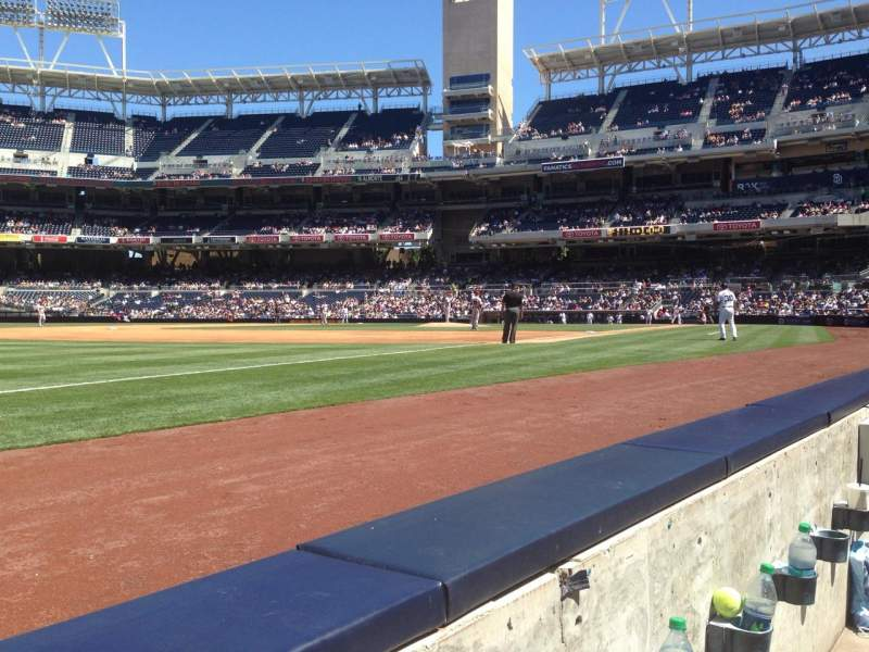 Seating view for Petco Park Section 116 Row 1 Seat 18