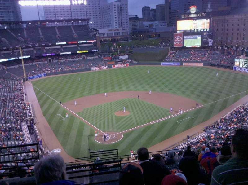 Seating view for Oriole Park at Camden Yards Section 332 Row 2 Seat 2