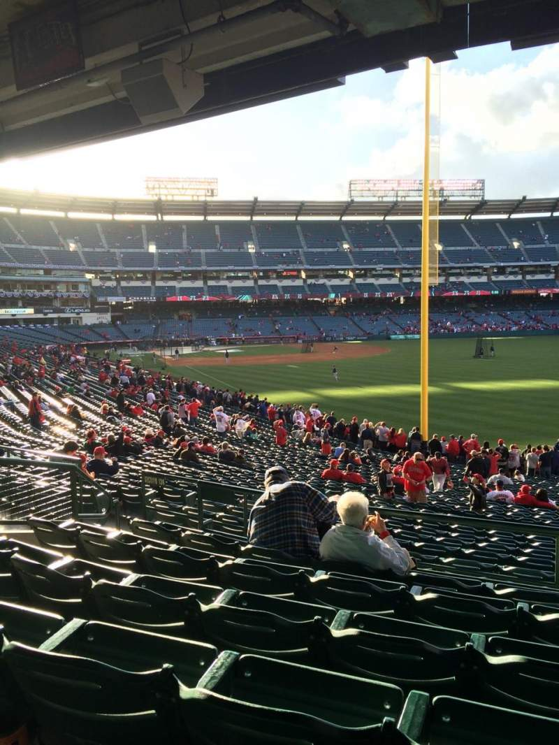 Seating view for Angel Stadium Section 231 Row F Seat 20