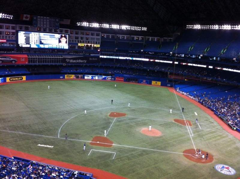 Seating view for Rogers Centre Section 529R Row 8 Seat 6
