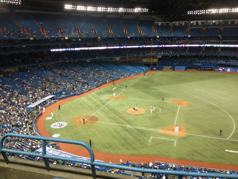 Seating view for Rogers Centre Section 518R Row 3 Seat 3