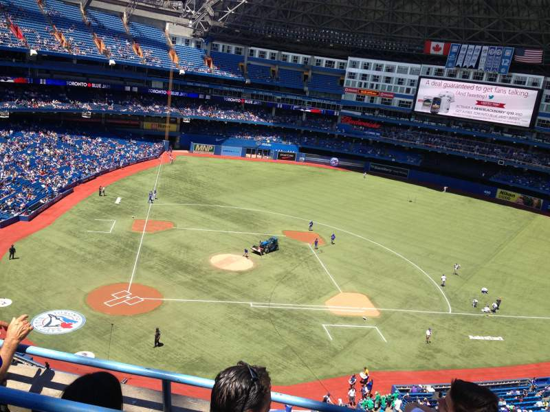 Seating view for Rogers Centre Section 521R Row 3 Seat 6