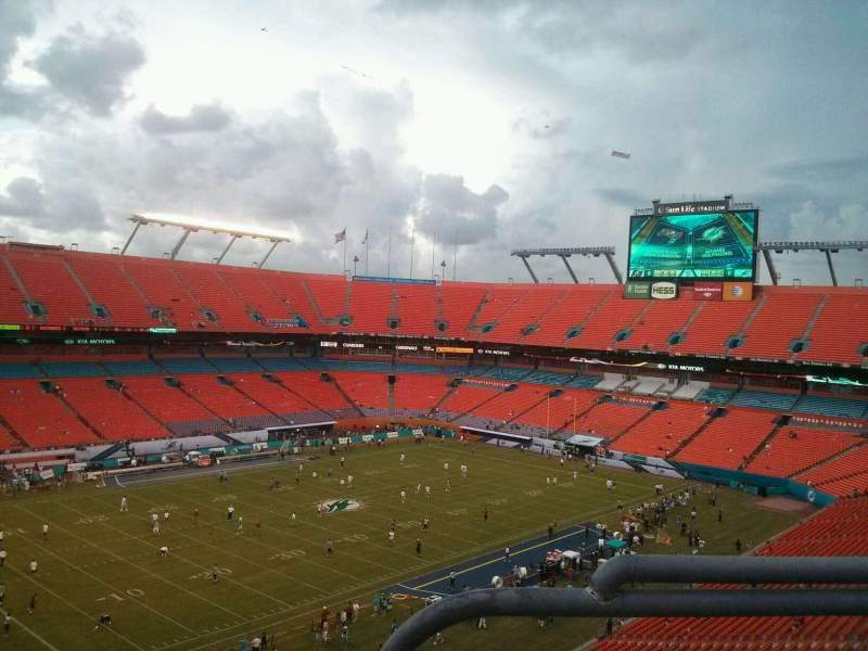 Seating view for Hard Rock Stadium Section 421 Row 10 Seat 1
