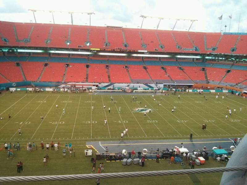 Seating view for Hard Rock Stadium Section 416 Row 1 Seat 1