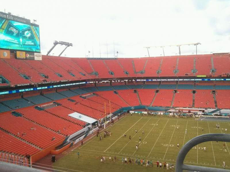Seating view for Hard Rock Stadium Section 416 Row 10 Seat 1