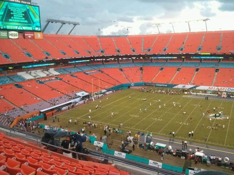 Seating view for Hard Rock Stadium Section 442 Row 10 Seat 1