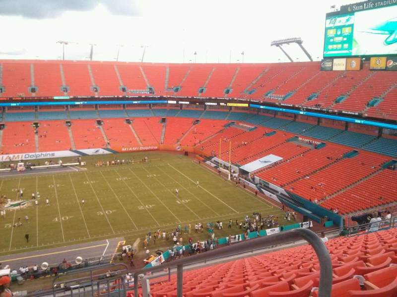 Seating view for Hard Rock Stadium Section 442 Row 20 Seat 1