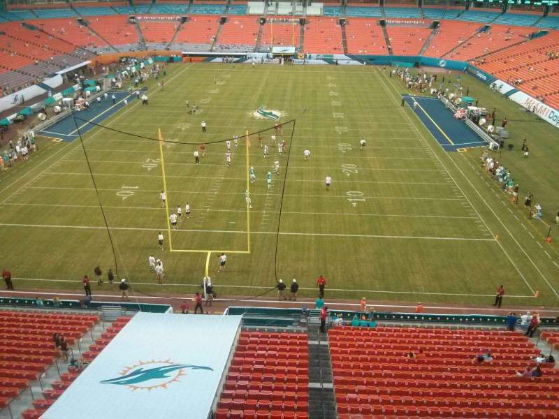 Seating view for Hard Rock Stadium Section 428 Row 1 Seat 1
