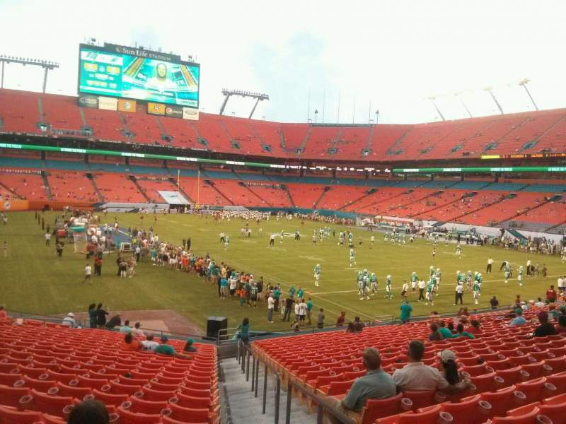Seating view for Hard Rock Stadium Section 106 Row 24 Seat 1