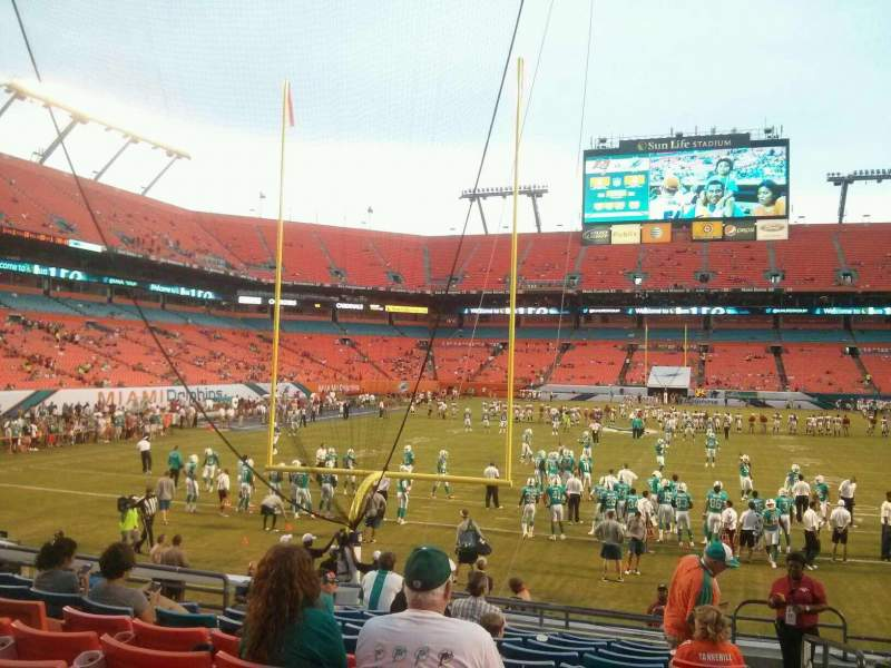 Seating view for Hard Rock Stadium Section 156 Row 14 Seat 1