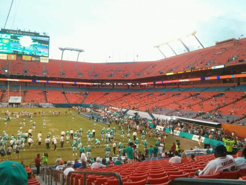 Seating view for Hard Rock Stadium Section 156 Row 24 Seat 1