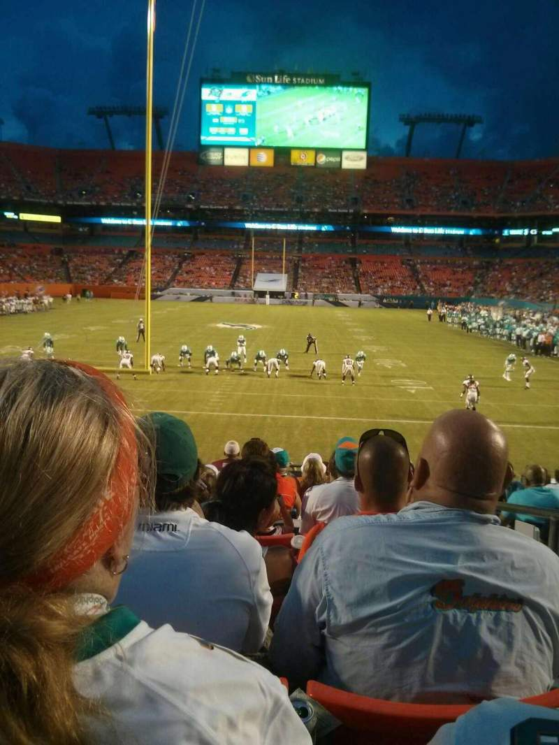Seating view for Hard Rock Stadium Section 156 Row 14 Seat 2