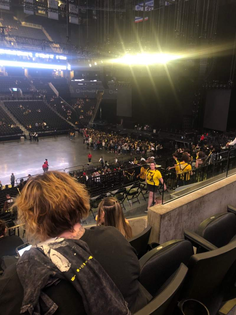 Seating view for Barclays Center Section 109 Row 7 Seat 15