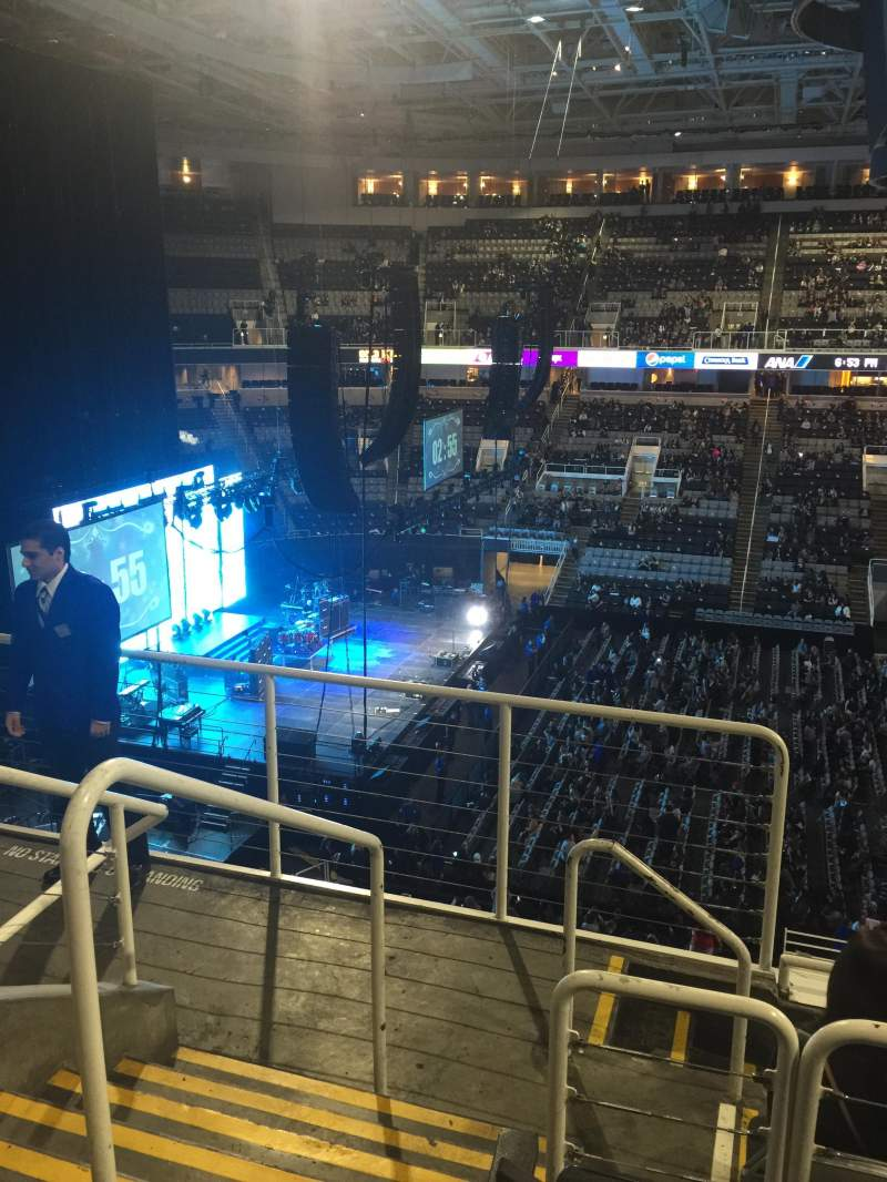 Seating view for SAP Center Section 215 Row 5 Seat 24