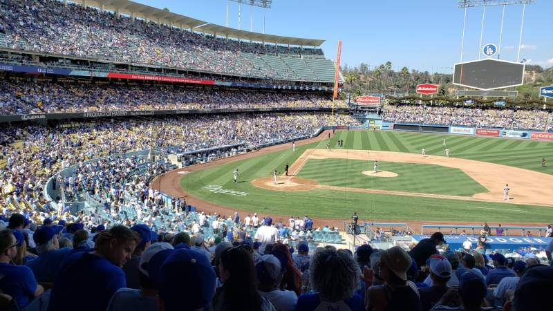 Seating view for Dodger Stadium Section 124LG Row P Seat 3