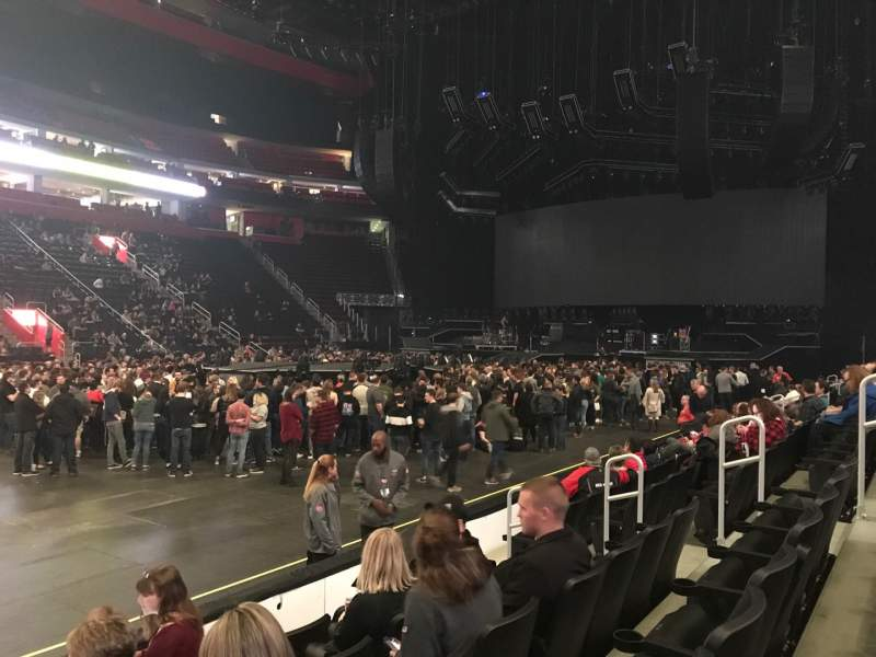 Seating view for Little Caesars Arena Section 111 Row 5 Seat 9
