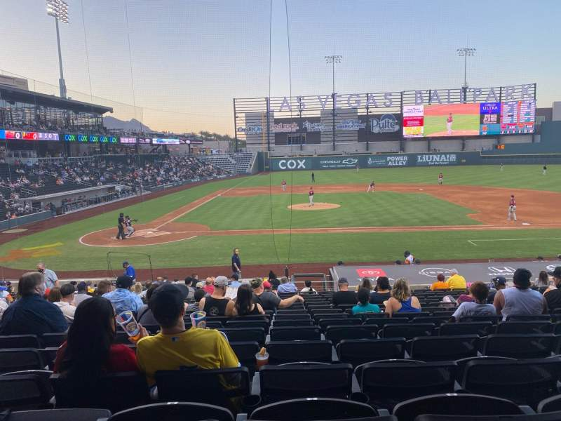 Seating view for Las Vegas Ballpark Section 108 Row V Seat 11