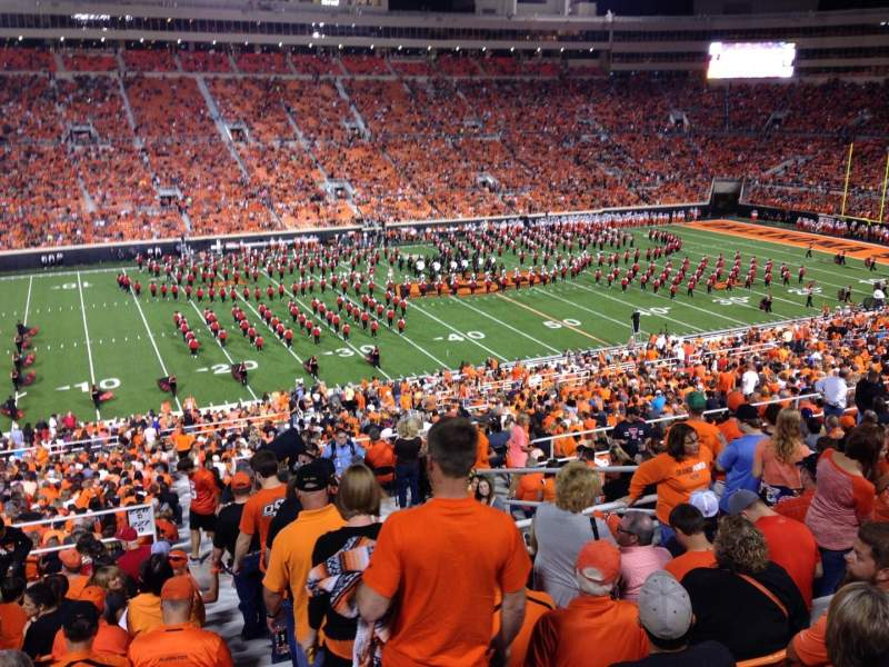 Seating view for Boone Pickens Stadium Section 332 Row 17 Seat 1