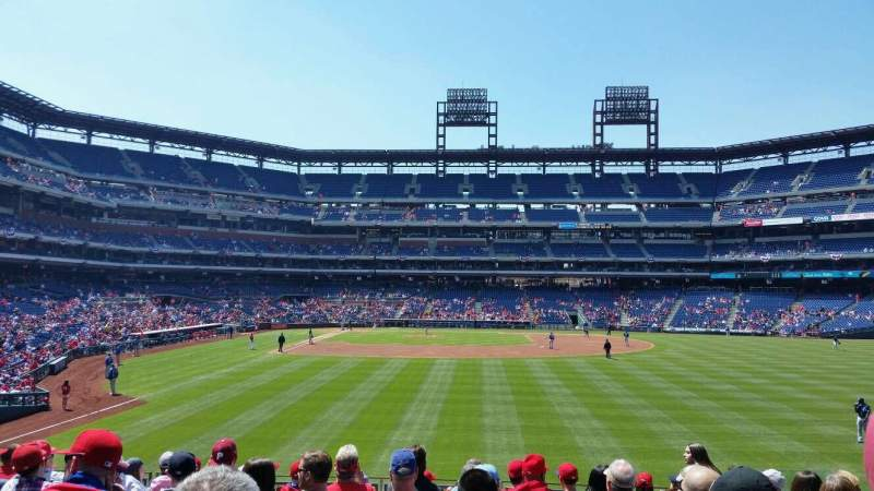 Seating view for Citizens Bank Park Section 105 Row 11 Seat 7