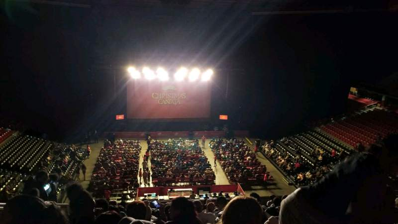 Seating view for Liacouras Center Section 208 Row M Seat 19