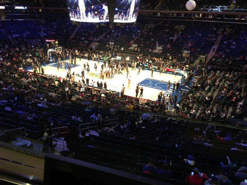 Seating view for Madison Square Garden Section 213 Row 1 Seat 13