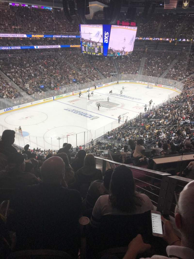 Seating view for T-Mobile Arena Section 105 Row L Seat 8