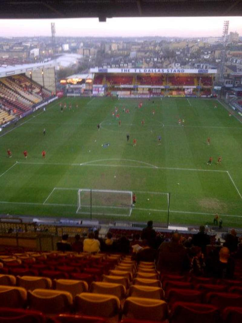 Seating view for Valley Parade Section kop..