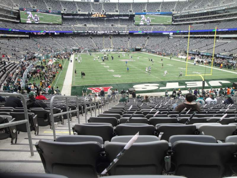 Seating view for MetLife Stadium Section 128 Row 31 Seat 30
