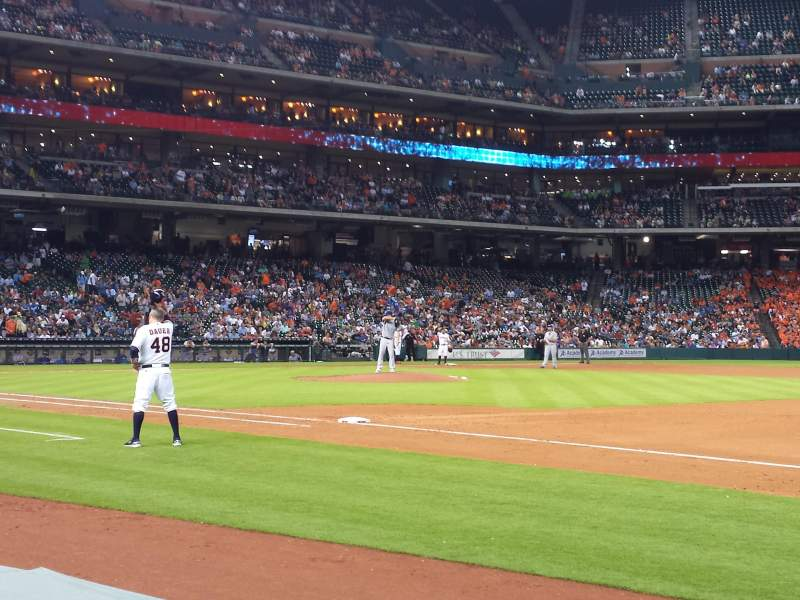 Seating view for Minute Maid Park Section 127 Row 3 Seat 16
