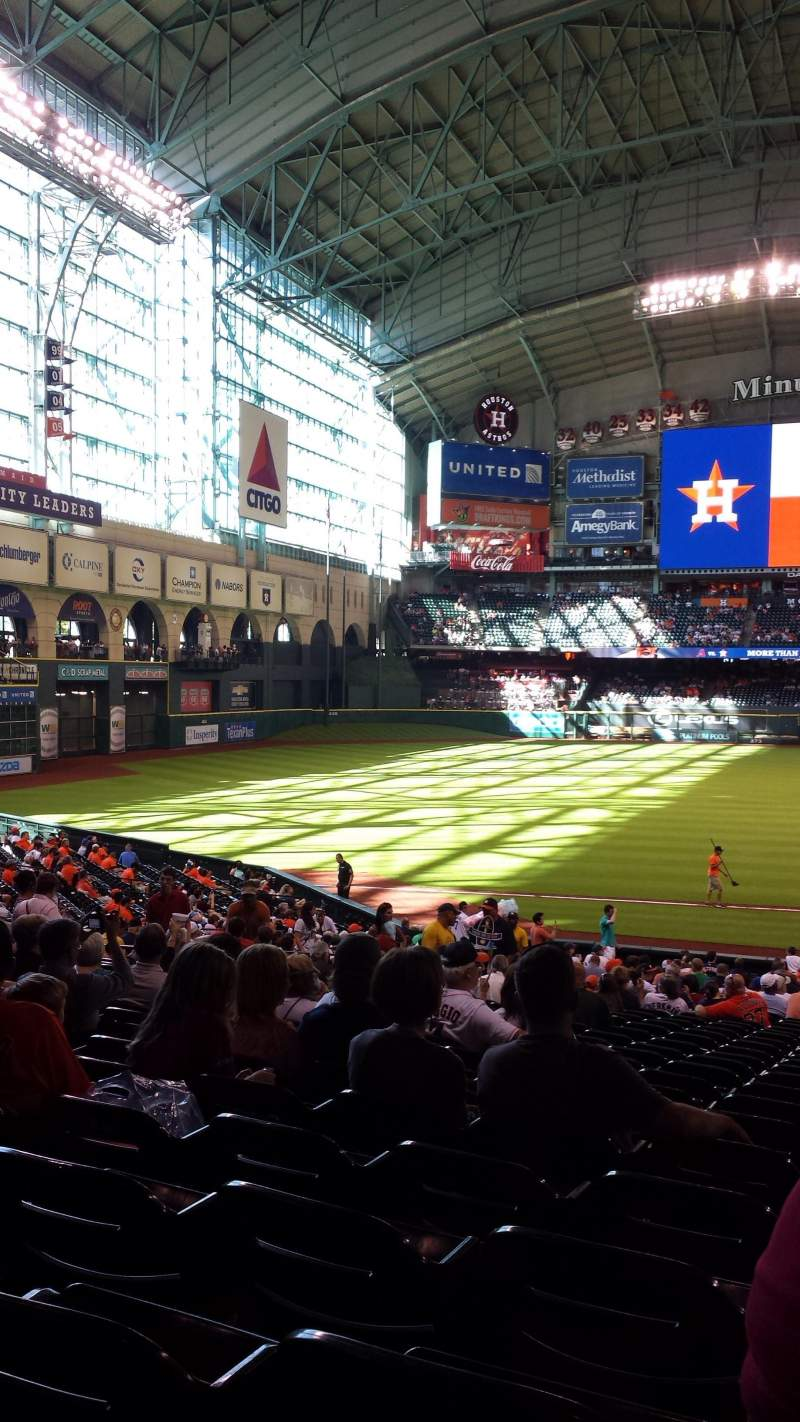 Seating view for Minute Maid Park Section 110 Row 35 Seat 13