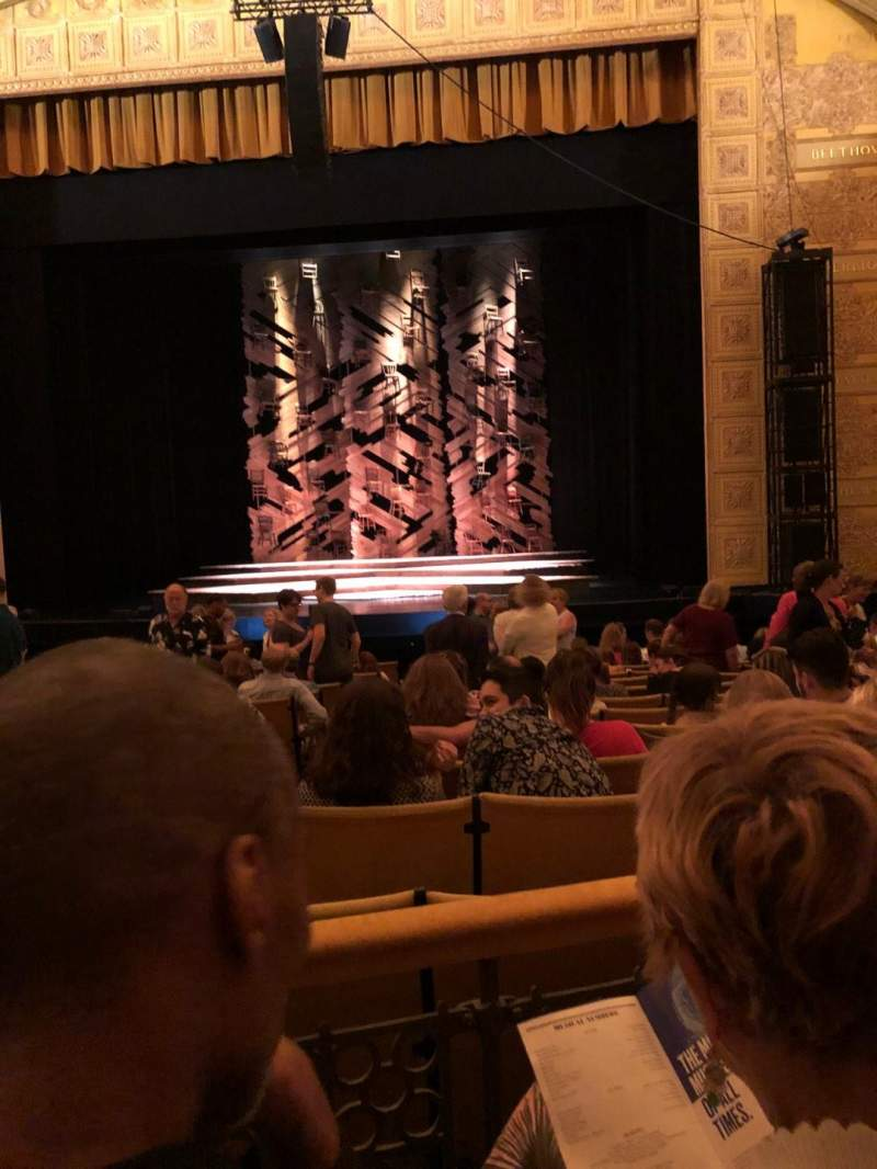 Seating view for Auditorium Theatre Section Orchestra Row Q Seat 210
