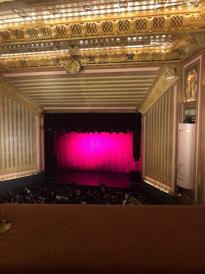 Seating view for Lyric Opera House Section 3 Rd Floor Row 1 Seat 17