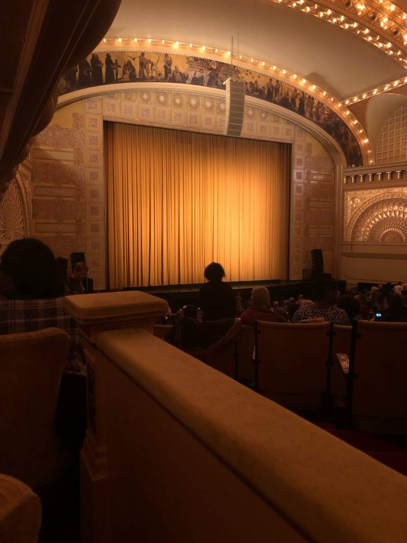 Seating view for Auditorium Theatre Section LBox-L9 Row 1 Seat 1