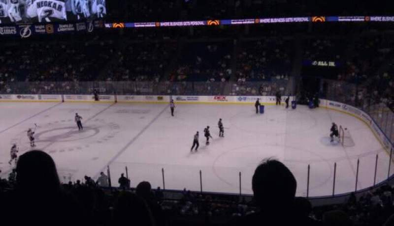 Seating view for Amalie Arena Section 229 Row f Seat 4