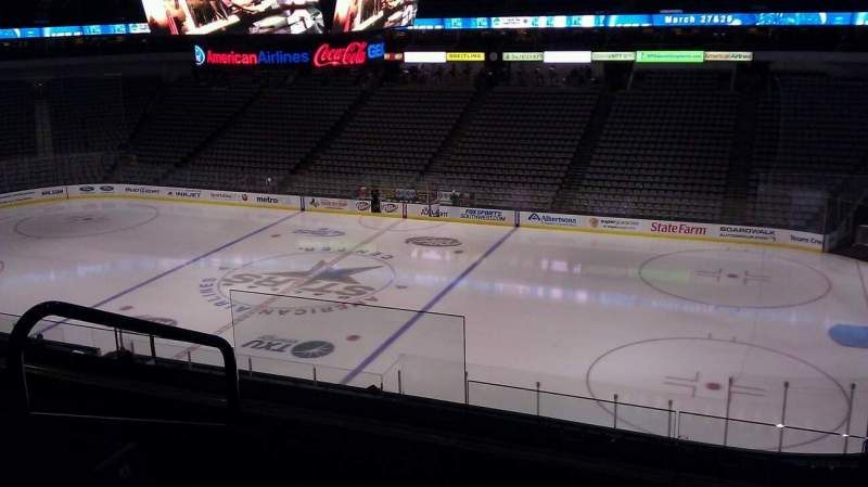 Seating view for American Airlines Center Section 215 Row d Seat 11