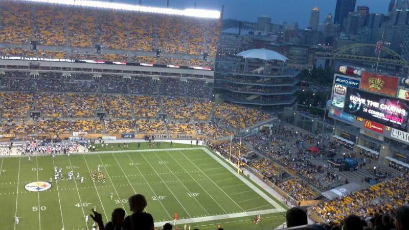 Seating view for Heinz Field Section 534 Row Cc Seat 12