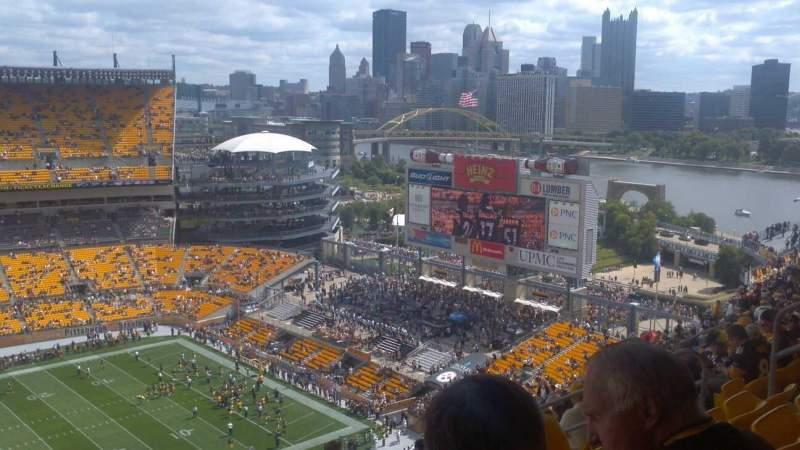 Seating view for Heinz Field Section 534  Row BB Seat 12