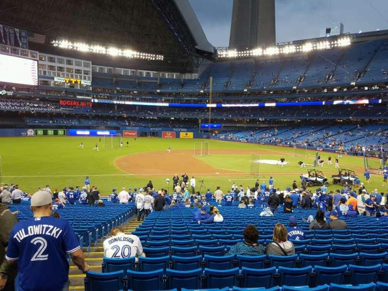 Seating view for Rogers Centre Section 128R Row 31 Seat 2