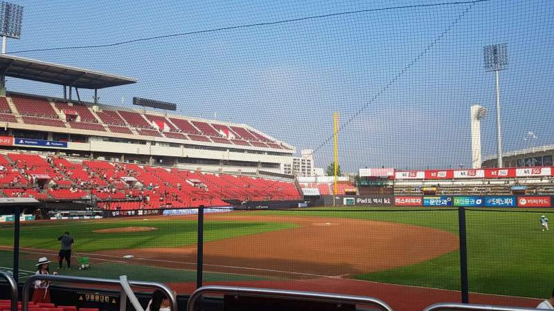 Seating view for KT Wiz Park Section 108 Row 3 Seat 29